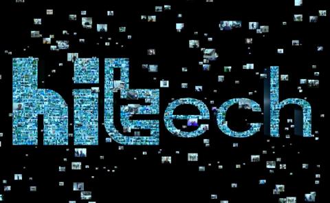 hitech logo-animatie